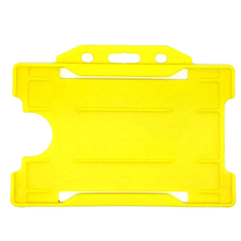 Pack de 25 soportes de tarjeta de identificaci/ón de una sola cara ALG Tarjetas de identificaci/ón paisaje color amarillo