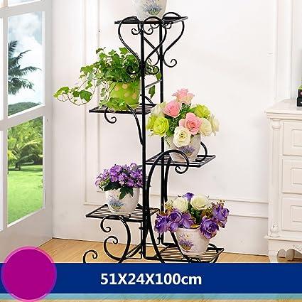 soporte macetas estanterias para macetas Flower Frame Hierro DIY Multi - Floor Floor Potes Balcón Potted