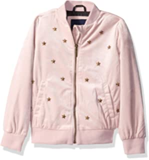 fc98688fd560 Amazon.com  Limited Too Girls  Crown Velour Bomber Jacket  Clothing