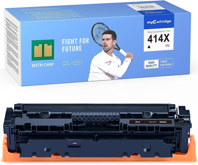 MYCARTRIDGE [with CHIP] Remanufactured Toner Cartridge Replacement for HP 414X 414A W2020X W2020A for Color Laserjet Pro M479fdw M454dw M454dn M479fdn M479dw (1 Black)