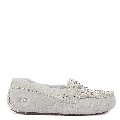UGG Zapatos Ansley Mocasines de Ante Violeta Gris Mujer Grey 38: Amazon.es: Zapatos y complementos
