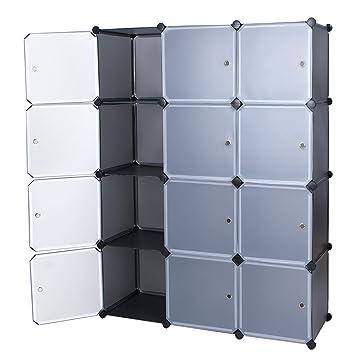 songmics cubo armadio armadietto guardaroba scaffale scarpiera mobiletto da bagno grigio lpc34g