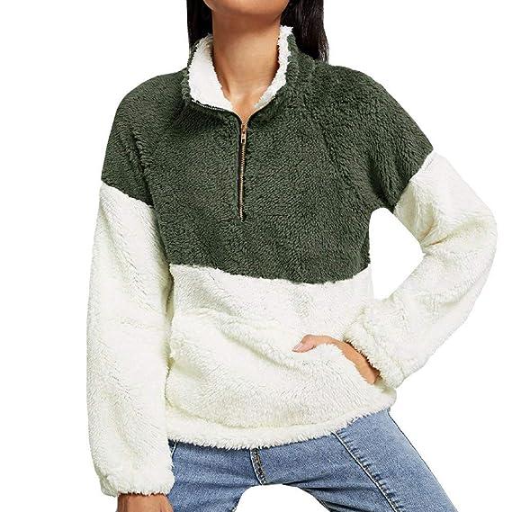 Goosuny Damen Plüsch Pullover Herbst Winter Oberteile