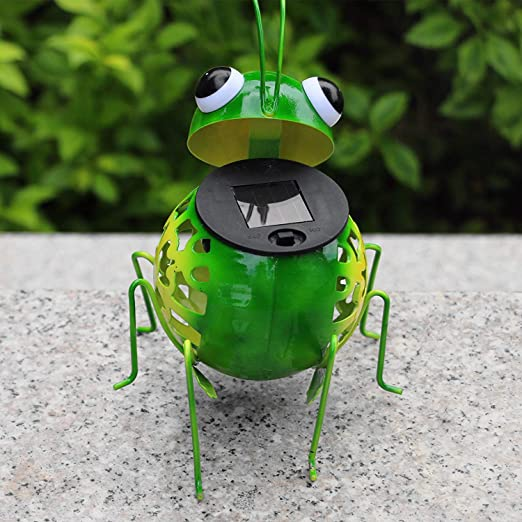 Amazon.com: Luces Solares Metal Arte Caterpillar Escultura ...