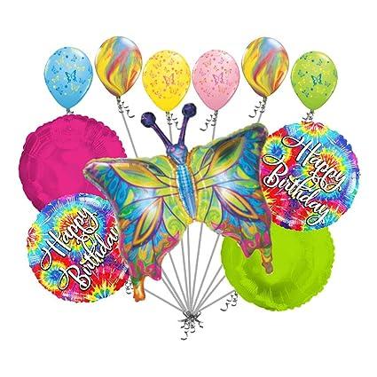 Amazon.com: 11 pc Psychedelic Hippie mariposa feliz ...