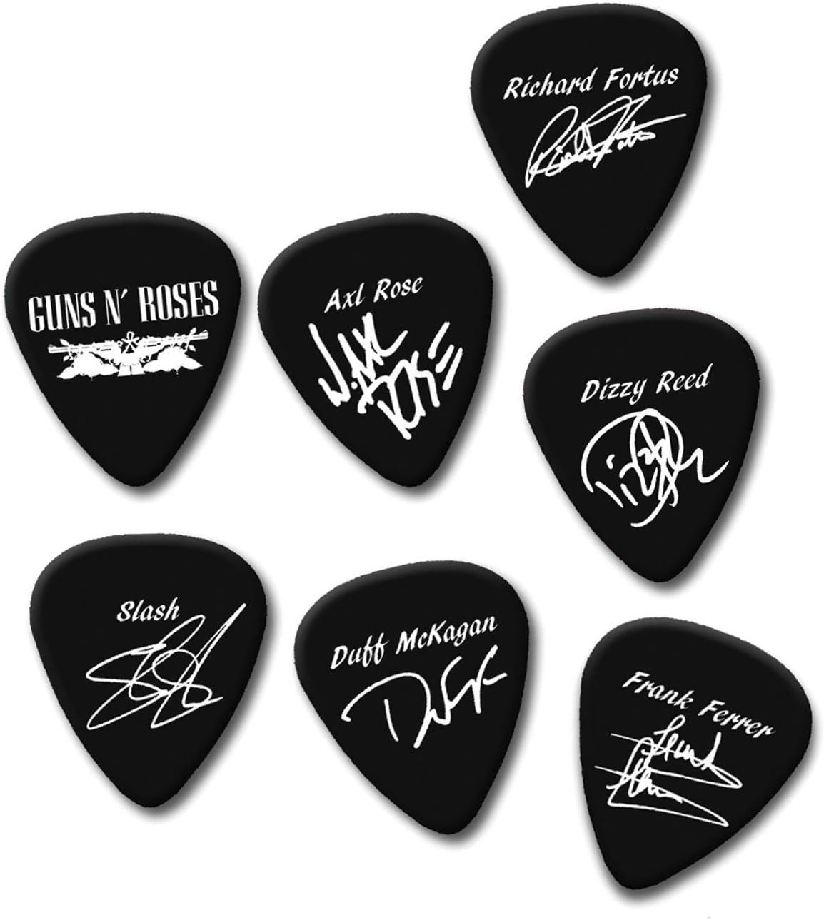 Axl de Guns n Roses Slash Duff Dizzy firma impresión Plectrum ...