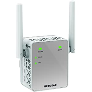 NETGEAR 11AC 750 Mbps (300 Mbps + 450 Mbps) Dual Band Gigabit Wi-Fi Range Extender with External Antennas (Wi-Fi Booster) (EX3700-100UKS)