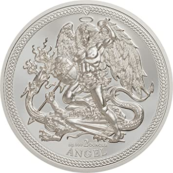 Power Coin Angel Erzengel Michael 2 Oz Silber Münze Isle Of Man 2017