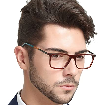 c232982418b OCCI CHIARI Optical Eyewear Frame Non-prescription Eyeglasses with Clear  Lenses Glasses Men(Brown)  Amazon.ca  Luggage   Bags