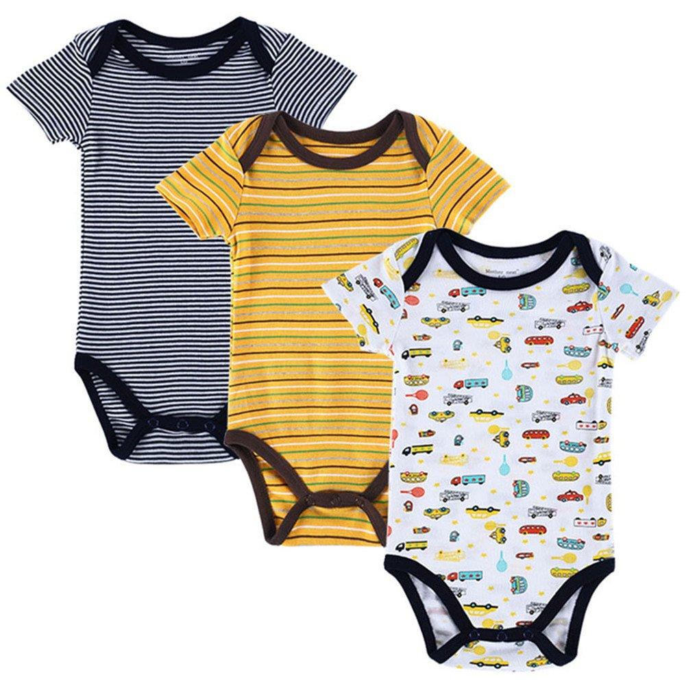 85314cee3 Amazon.com  Mother Nest 3 Pieces lot Fantasia Baby Bodysuit Infant ...