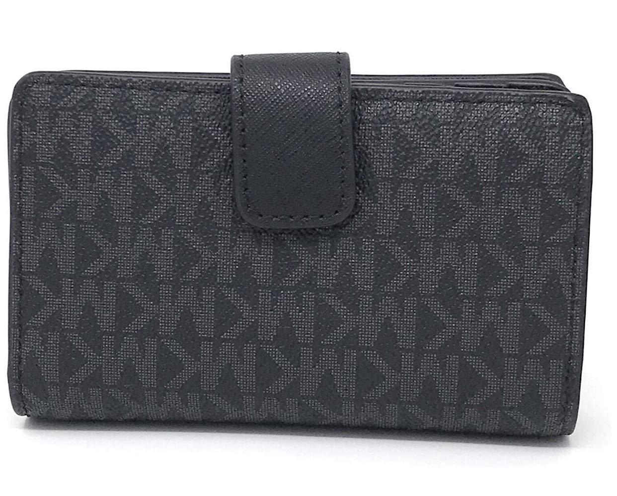 Michael Kors Jet Set Travel Saffiano Leather Bifold Zip Coin Wallet (Black PVC 2019) by Michael Kors (Image #2)