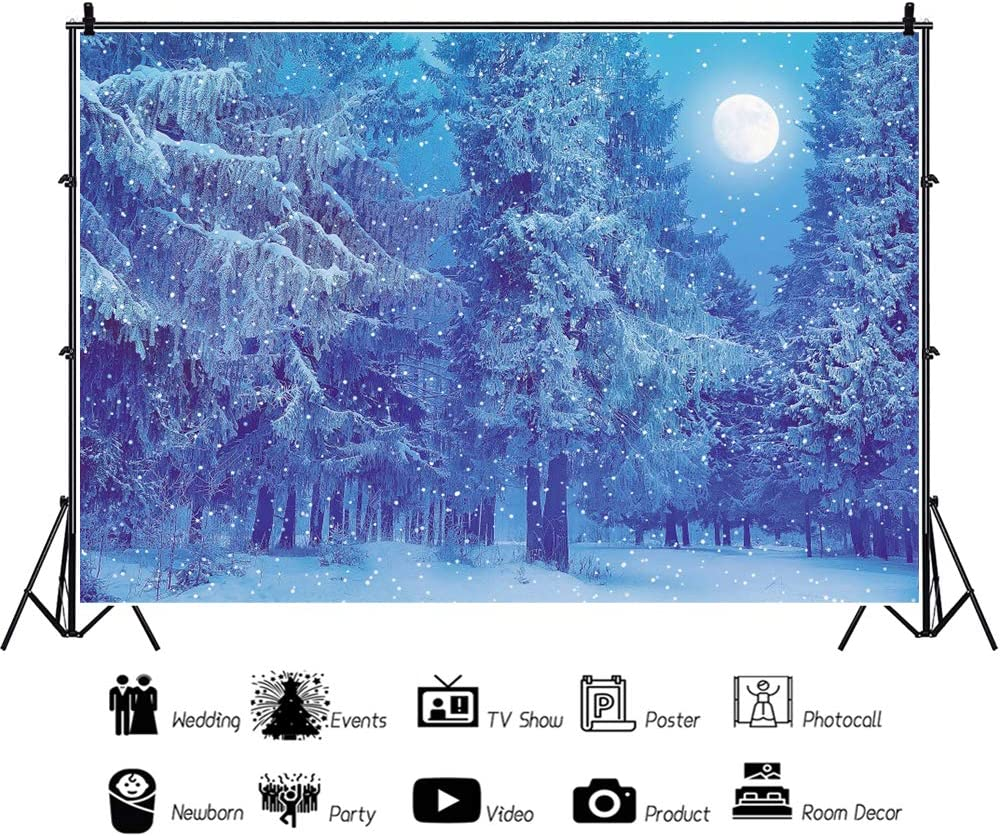 YEELE Dreamy Winter Forest Backdrop Kids Christmas Acting Show New Year Events Decoration Photography Background 10x8ft Selfies Portrait and Holiday Pictures Photoshoot Christmas Photos Wallpaper