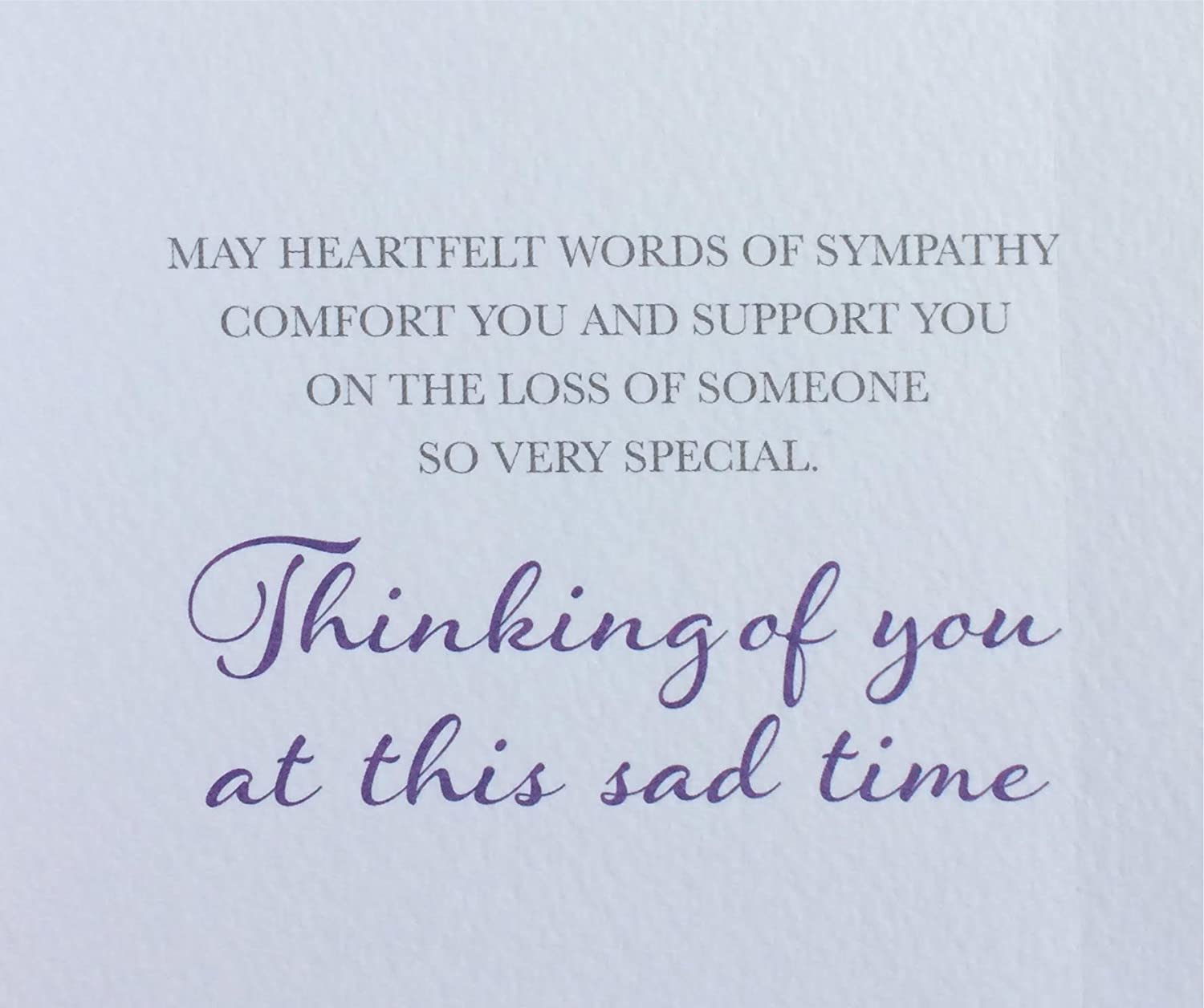 With Deepest Sympathy Card Thinking Of You At This Sad Time