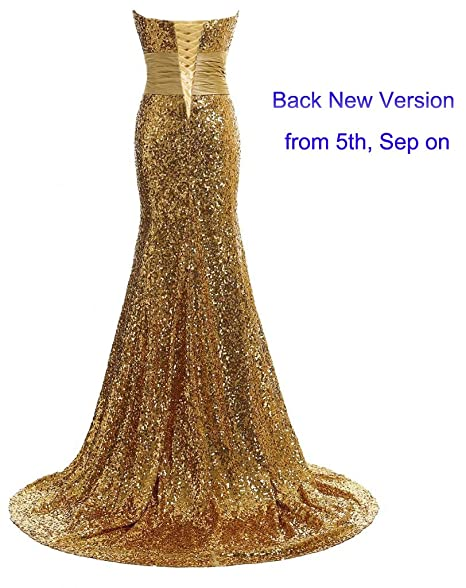Amazon.com: EverBeauty Sequinned Long Evening Dresses Mermaid Prom Dresses for Party: Clothing