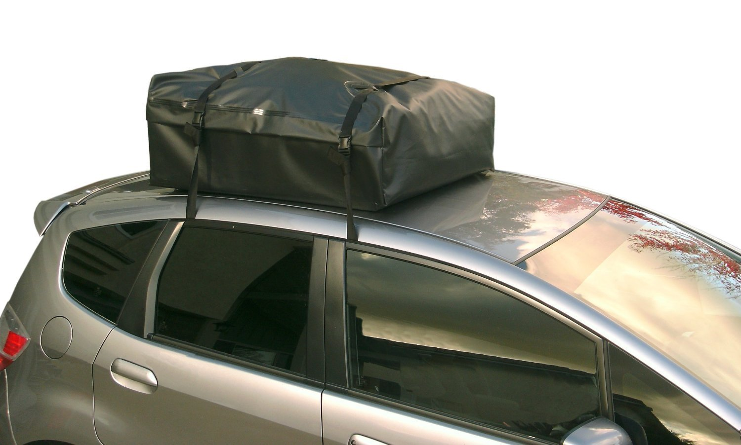 RoofBag Rooftop Cargo Carrier   Waterproof   Made in USA   1 Year Warranty   Fits All Cars: with Side Rails, Cross Bars or No Rack   Includes Heavy Duty Straps by RoofBag (Image #4)