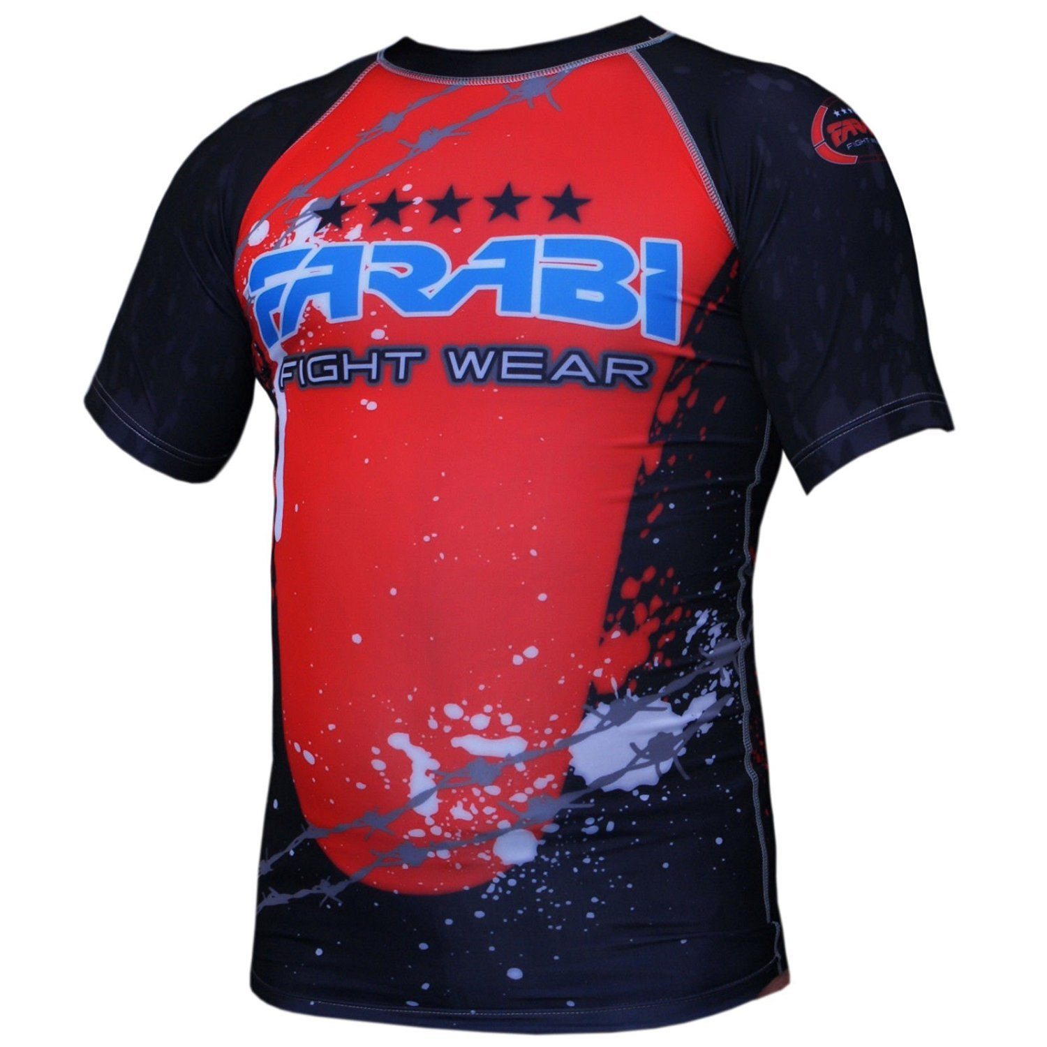MMA Rash Guard Compression Top Gym Training Body Armour BJJ Base Layer by farabi