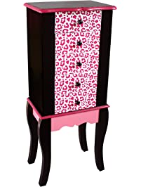 0d946826ef9b Teamson Kids - Fashion Prints Kids Jewelry Chest Armoire - Leopard (Pink /  Black)
