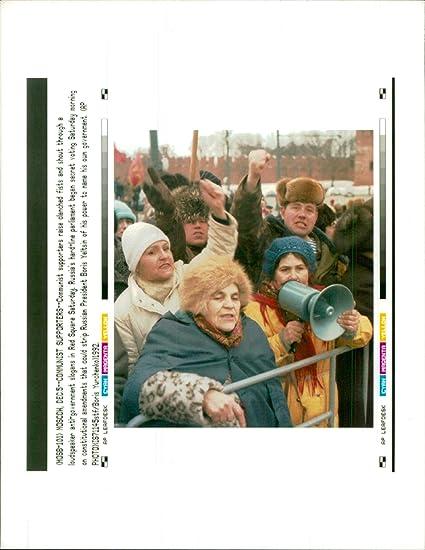 Amazon com: Vintage photo of Communist supporters raise