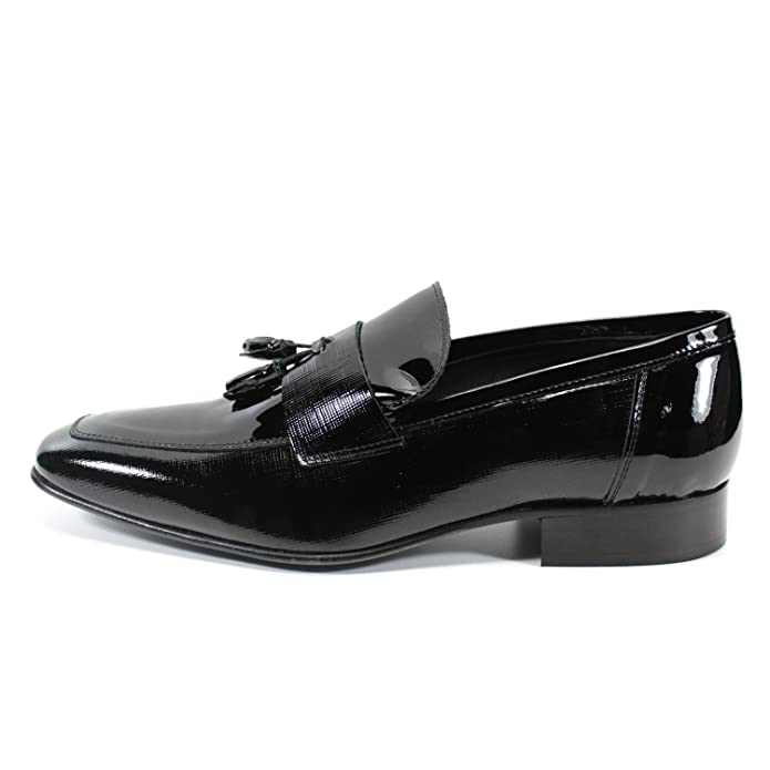 Handmade Italian classic men's shoes mocasins genuine leather PIERRE CARDIN  (45, Black): Amazon.co.uk: Shoes & Bags