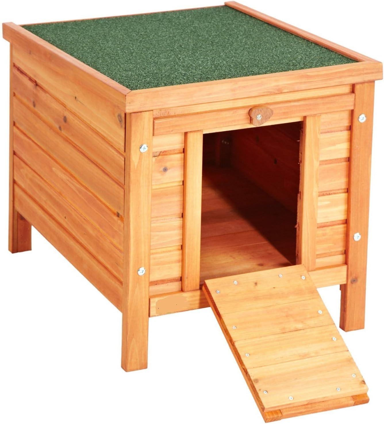 VivaPet Gato/Perro/Conejo/Guinea Pig de Madera Hide casa – 50cm (L) x 42cm (W) x 43cm (H)
