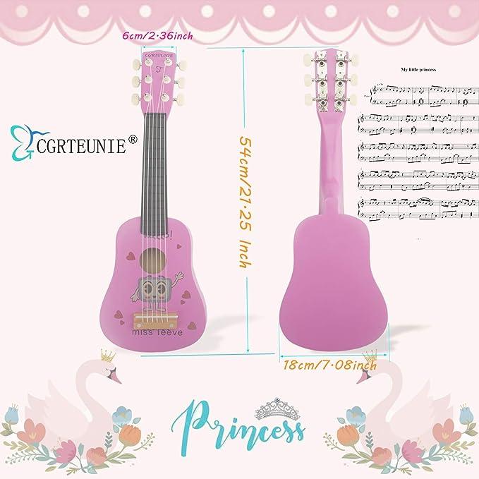 CGRTEUNIE Acústica clásica 6 cuerdas 21 pulgadas Guitarra de ...