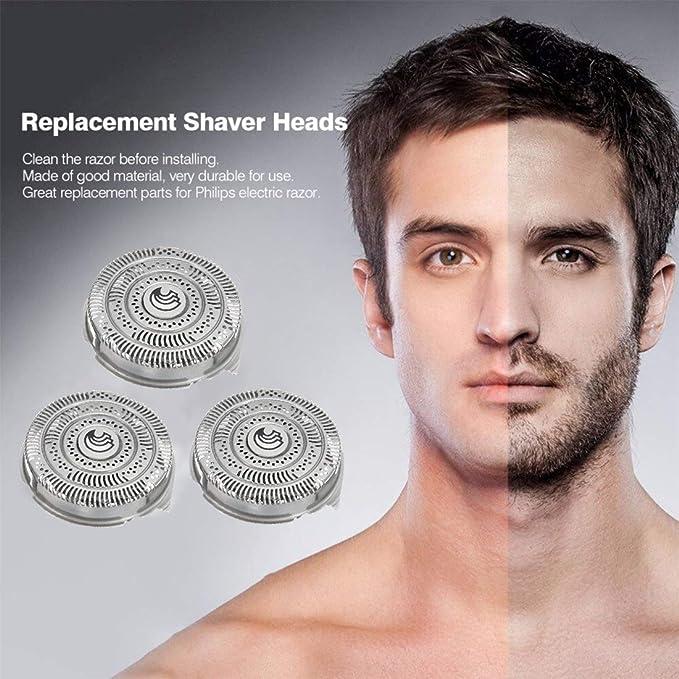 Repuesto – Afeitadora rasierklingen accesorios compatible para Philip HQ9 Serie 3pcs: Amazon.es: Hogar