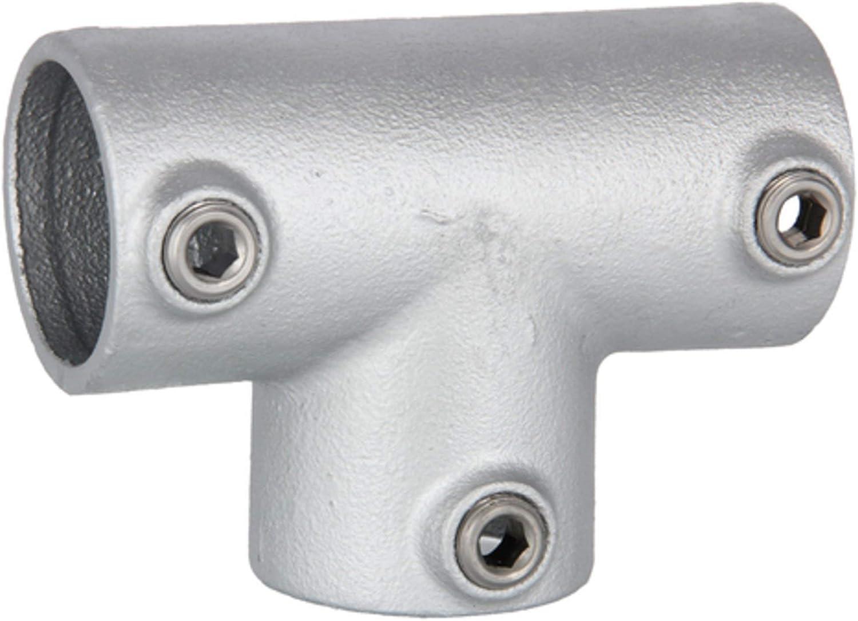 Fenau T-Kreuzverbinder///Über-Kreuzverbinder Schrauben 90/° Rohrverbinder feuerverzinkt inkl offen /Ø 33,7 mm Temperguss galvanisiert