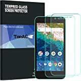 Android One S3 フィルム 【2枚パック】 TopACE 硬度9H 超薄0.33mm 2.5D 耐衝撃 撥油性 超耐久 耐指紋 日本旭硝子素材採用 飛散防止処理保護フィルム Android One S3 対応