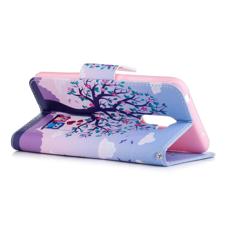 Lomogo Leather Wallet Case with Kickstand Card Holder Shockproof Flip Case Cover for Xiaomi Pocophone F1 LOBFE13805#3 Xiaomi Pocophone F1 Case