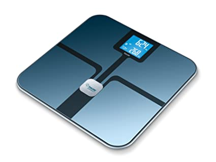 Beurer BF 800 - Báscula de baño diagnóstica Bluetooth, compatible con App en español Health Manager, color negro