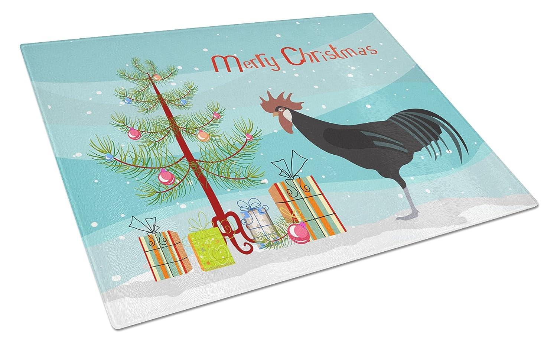 Carolines Treasures BB9208LCB Minorca Ctalalan Chicken Christmas Glass Cutting Board - Large B078T3CNP4