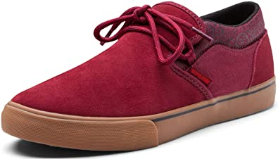 Supra Shoes Cuba Burgundy Black - White Red Size  13  Amazon.co.uk ... b739bb3ee