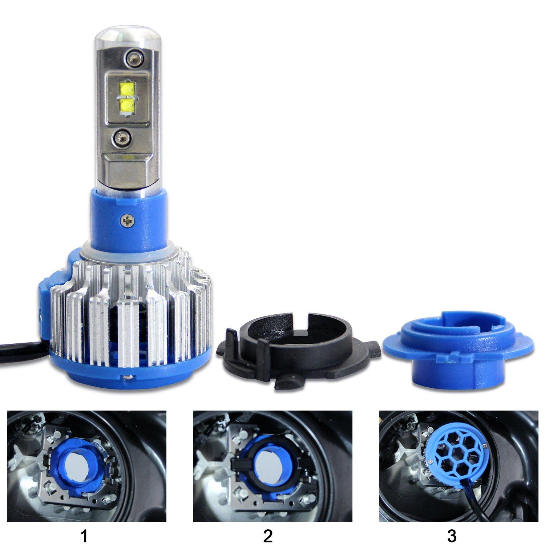 2pcs H1 LED Headlight Bulb Adapter Holder for Honda Odyssey High Beam RCP H1AD01