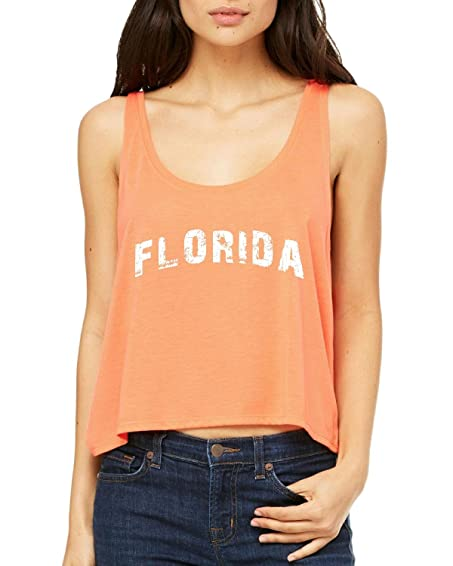 Ugo Florida Map FL Flag Miami Orlando Home of University of Florida UF Womens Boxy Tank
