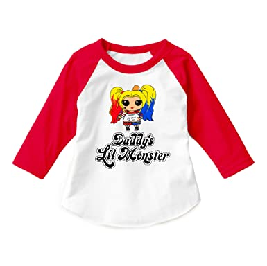 af7f5c4a2 Dittoxpression Suicide Squad Harley Quinn Daddy's Lil Monster Raglan Shirt  Unisex Child 3/4 Sleeve. Roll over image to zoom in. Dittoxpression