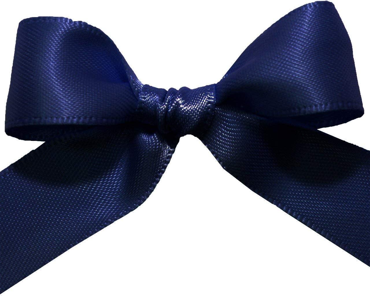 3//8x 50 Yd Morex Ribbon 08816//50-327 Double Face Satin Ribbon Aegean Blue