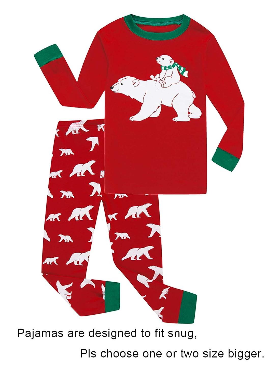 IF Pajamas Christmas Tree Little Boy Girl PJS Long Sleeve Kid Sets