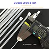 HS Clear Zip Ties 8 Inch (Bulk-1000 Pack) Nylon