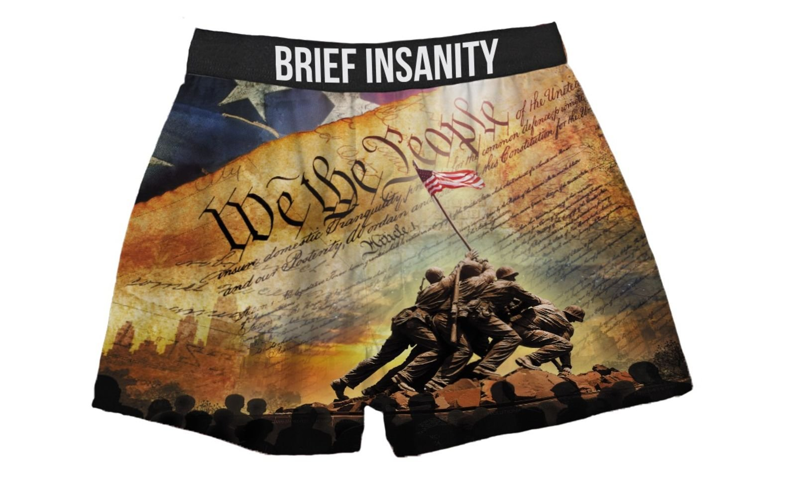 Brief Insanity We The People Constitution American Flag Boxer Shorts for Men