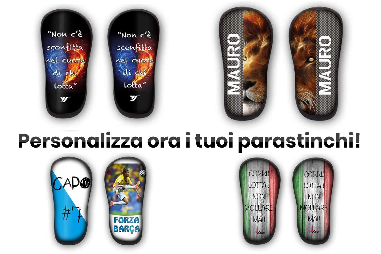 Personalizza Online parastinchi da Calcio per Uomo o Bambino IoCreo.online Parastinchi Personalizzati da Calcio