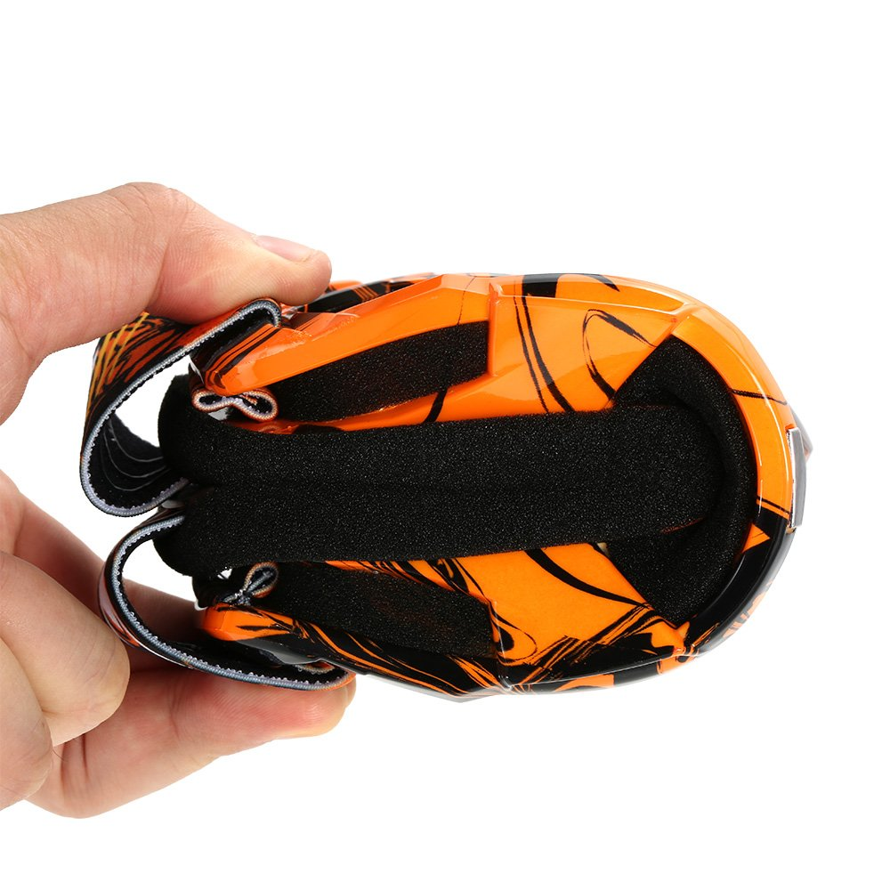 KKmoon gafas de moto fuera ruta gafas de Match fuera ruta en vasos transparentes para protecci/ón de los ojos naranja