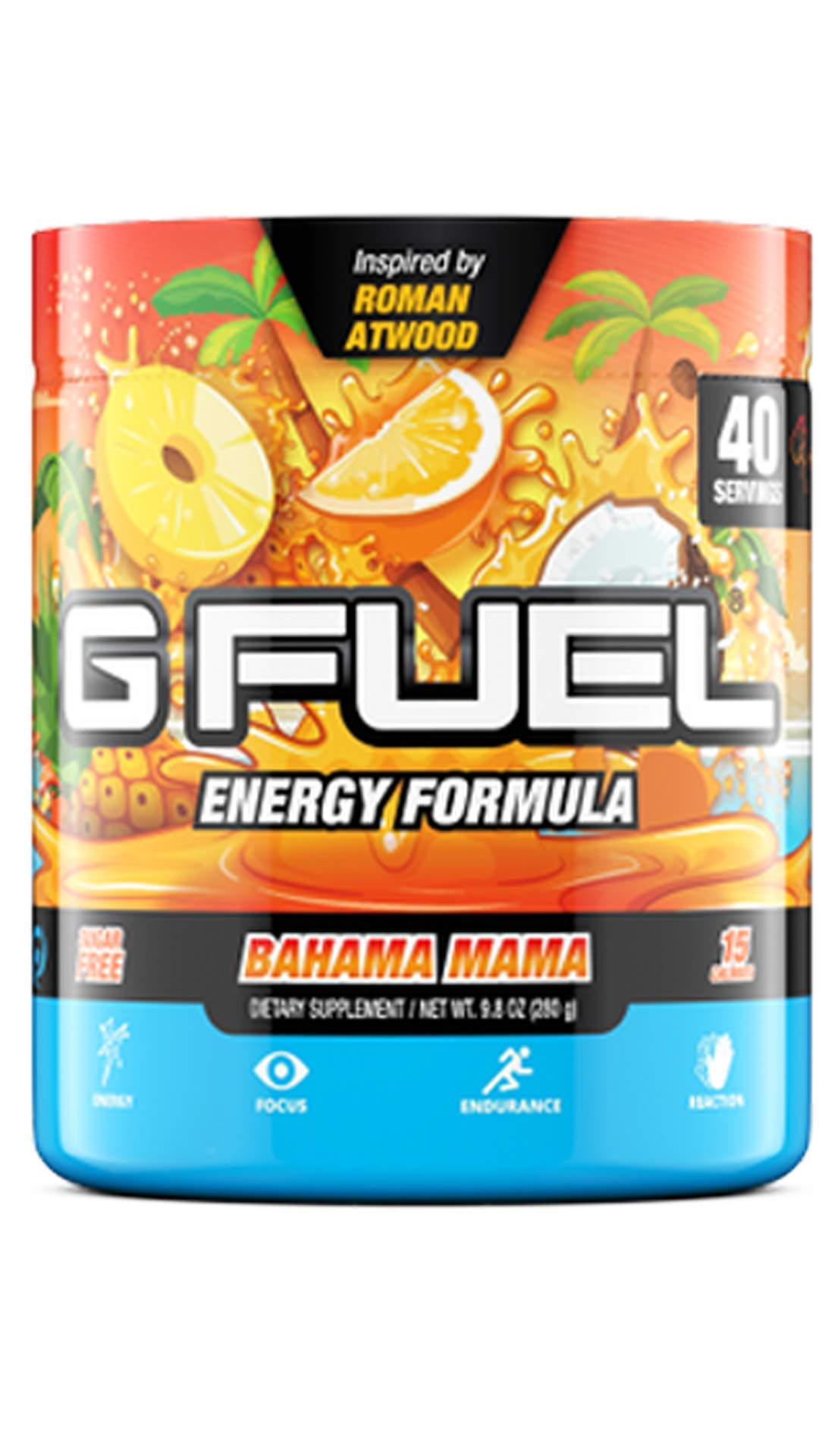G Fuel Bahama Mama Tub (40 Servings) Elite Energy and Endurance Powder 9.8 oz. Inspired by Roman Atwood