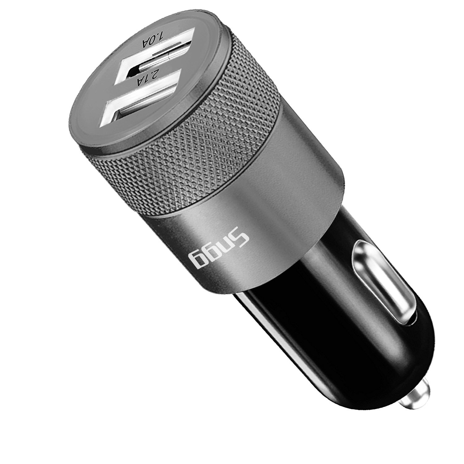 Sngg Car Charger,3.1A Rapid Dual Port USB Car charger for iPhone/ iPad / Samsung.