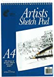 Artists A4 Sketch Pad Wiro Bound - 80 Sheets (297mm x 210mm)