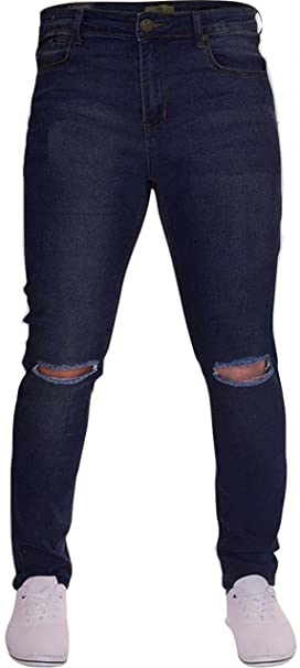 6ac0343a70e newfacelook Mens Jeans Ripped Fashion Denim Jeans Pants Blue F0010 W30 L32