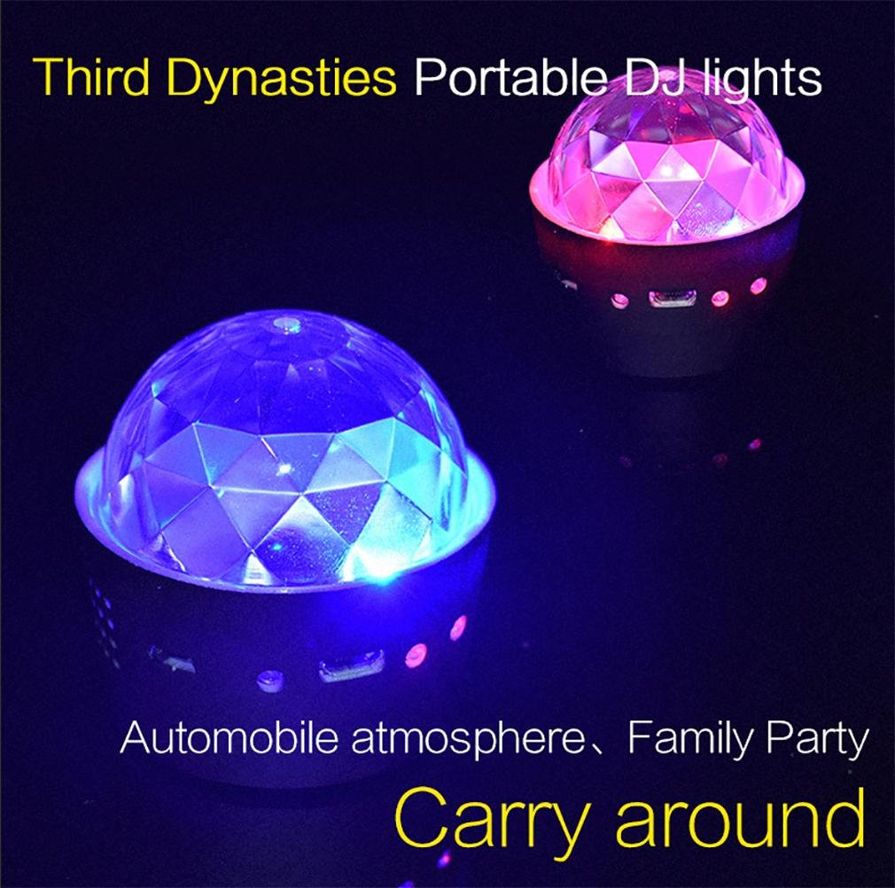Amazon.com: QIEI LED Mini Disco Ball Party Light Show with Remote, Colored Sound Activated Strobe Lights for Dance Night Club Christmas Wedding DJ Lighting: ...
