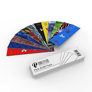1 PickPunchLLC Refill Kit – 20 tarjetas de plástico incluido – Make Custom Púas de