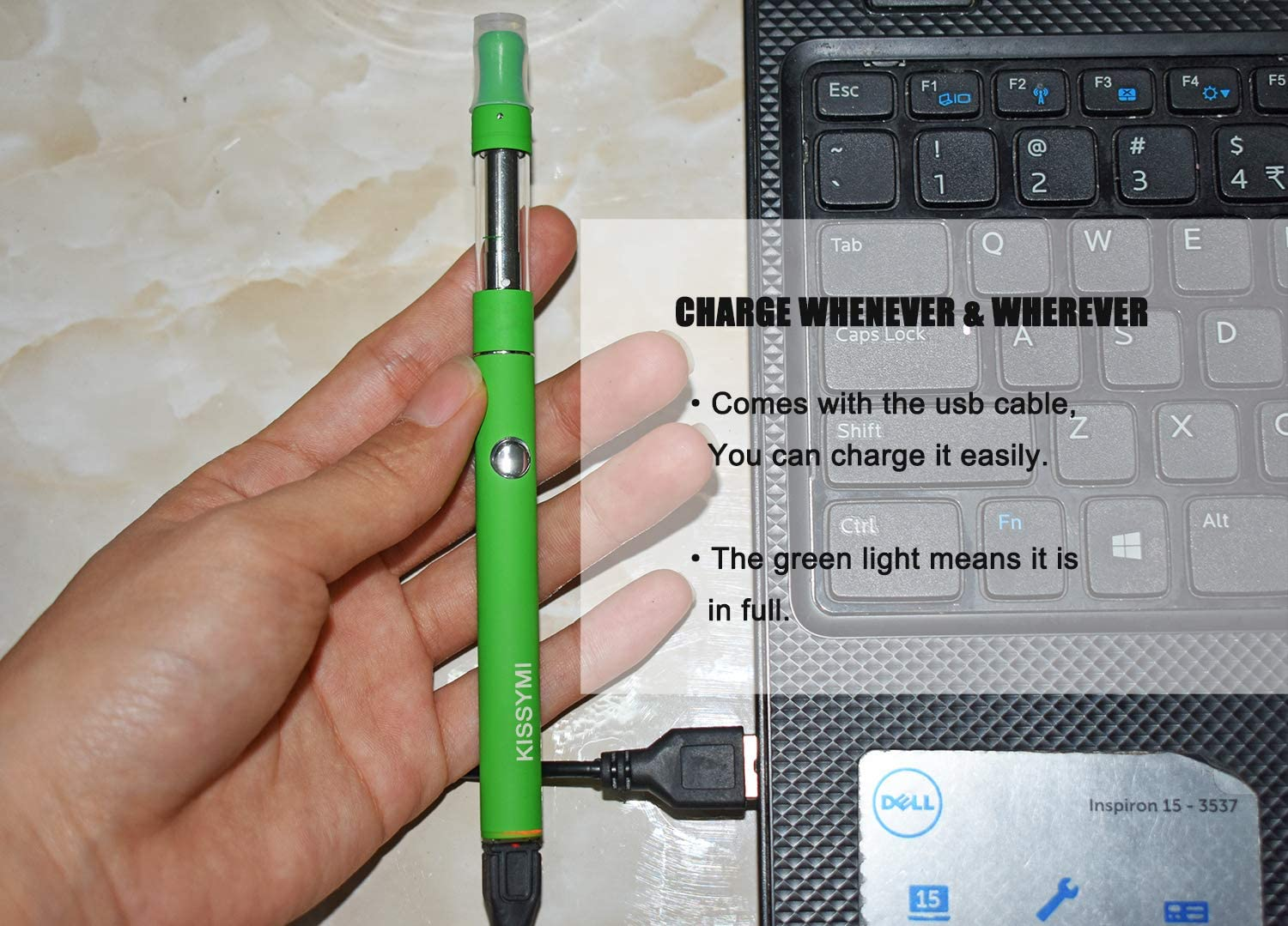 Portable Slim Charger Pen Kit with Glass Storage