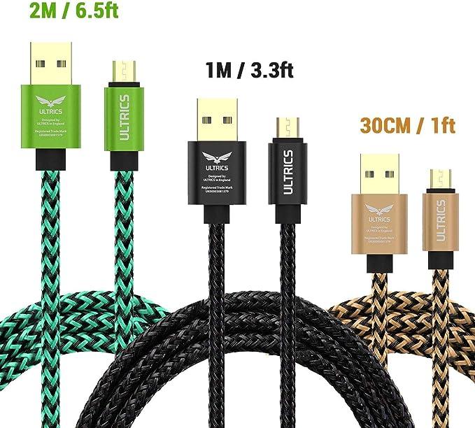 ULTRICS Micro USB Cable 30CM, High