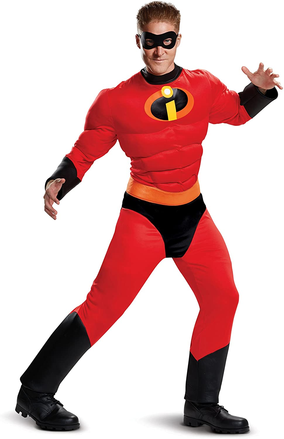 Mr Incredible Classic Mens Adult Muscle Incredibles Movie Costume
